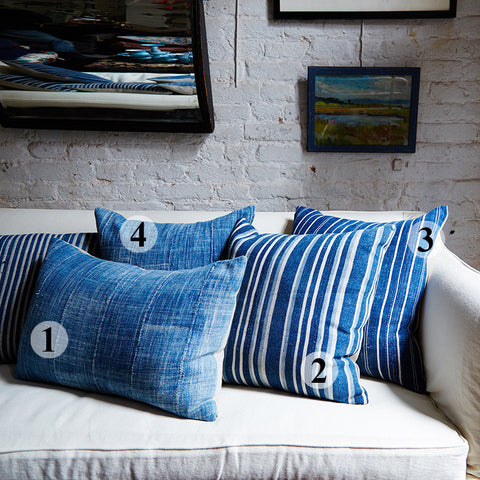 vintage african indigo pillows gifts