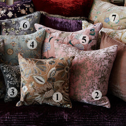 Anke Drechsel Embroidered Silk Velvet Pillows