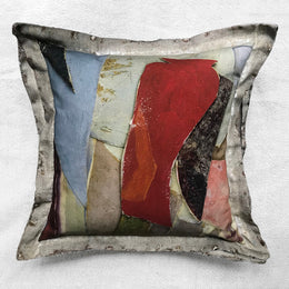 """Abstract"" Vintage Painting Pillow"