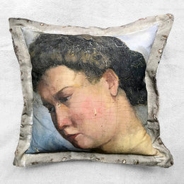 """Beatrice"" Vintage Painting Pillow"