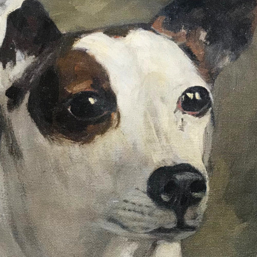 """Dog"" Vintage Painting Pillow"