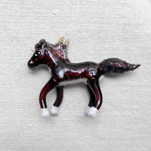 Brown Horse Ornament