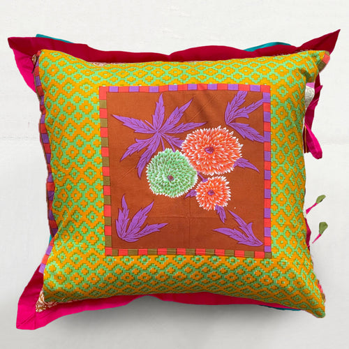 Sunrise Small Dahlia Pillow