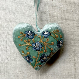 Silk Velvet Heart in Ocean