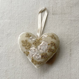Silk Velvet Heart in Champagne