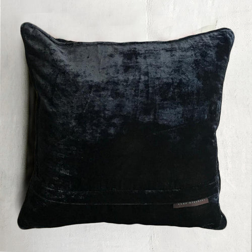 Yana Silk Velvet Cushion in Night Shade