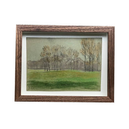 Evert Rabbers Framed Landscape Drawing