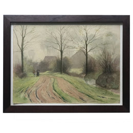 Evert Rabbers Framed Landscape Painting