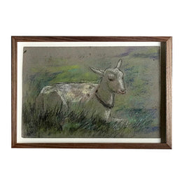 "Evert Rabbers Framed ""Goat"" Drawing"