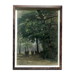 "Evert Rabbers Framed ""Cows Trail"" Drawing"