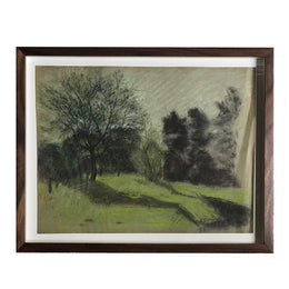 "Evert Rabbers Framed ""Pastoral"" Drawing"