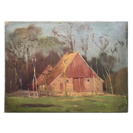 Early 20th Century Evert Rabbers Painting on Canvas