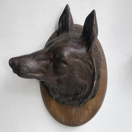 Black Forest Carved Fox