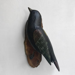 Black Forest Carved Large Black Bird