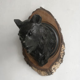Black Forest Carved Bear Head