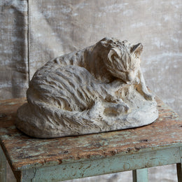 19th Century Terra Cotta Cat Sculpture