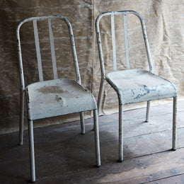 Mid 20th Century Metal Chair Pair
