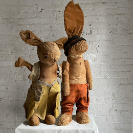 Antique Giant Rabbit Pair