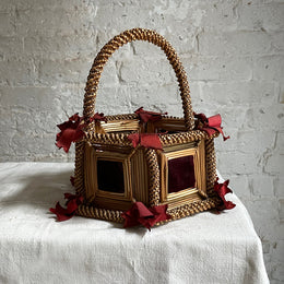 Vintage Tramp Art Basket