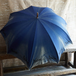 Early 20th Century Blue Umbrella 3