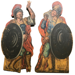 19th Century Pair of Painted Figures