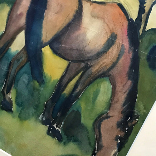 Horse Painting by Evelin Bodfish Bourne