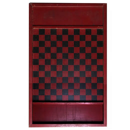 Antique Red & Black Checkerboard