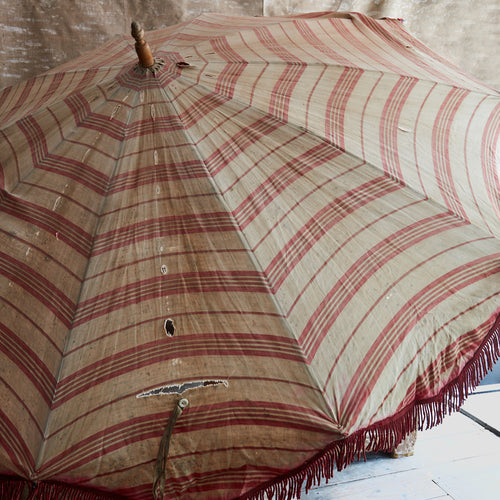 Early 20th Century Parasol Umbrella with Fringe