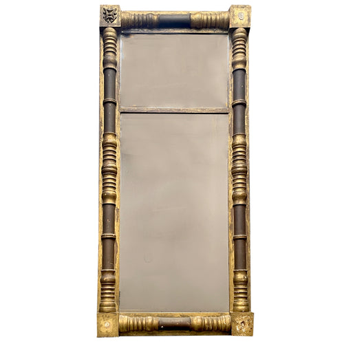 19th Century Looking Glass Mirror