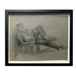 Evert Rabbers Framed Portrait Drawing