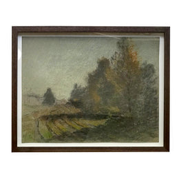 Evert Rabbers Framed Pastel Landscape