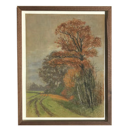 Evert Rabbers Framed Landscape Pastel Drawing