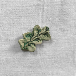 Nathalie Lete Small Green Leaf Sculpture