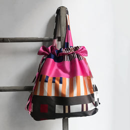 1947 Drawstring Tote in Pink