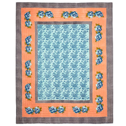 Lisa Corti Queen Quilt in Double Peonia Peach 220 x 270cm
