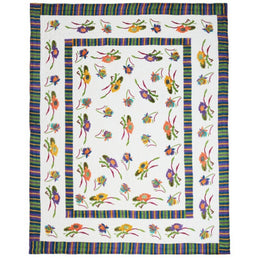Lisa Corti Queen Quilt in Japanese White 220 x 270cm