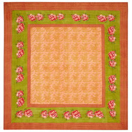 Lisa Corti King Quilt in Double Peonia Acid Green 250 x 270cm