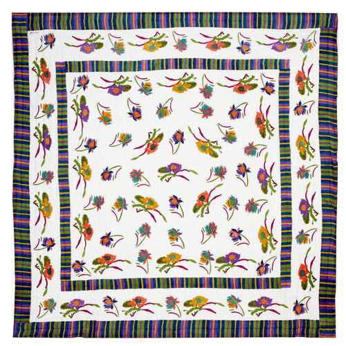 Lisa Corti King Quilt in Japanese White 250 x 270cm