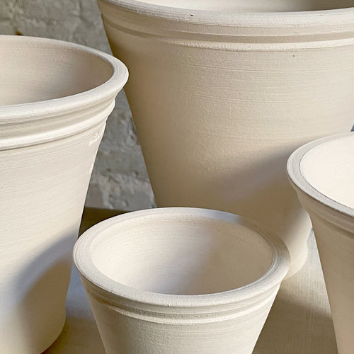 Ben Wolff Flower Pots in White