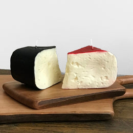 Red & Black Cheese Slice Candle