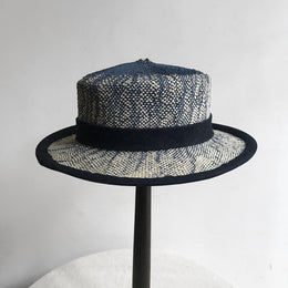 The Aphex Hat in Navy & White Ombre