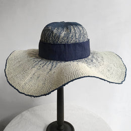 The Serenity Hat in Light Navy & White Ombre