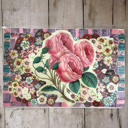 One of a Kind Collaged Mat - Roses