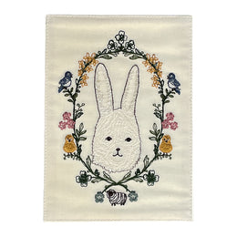 Embroidered Garland Bunny Card