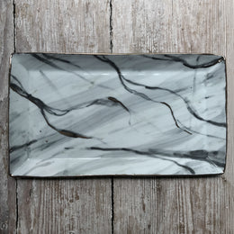 Carrara Marble Rectangular Plate #1