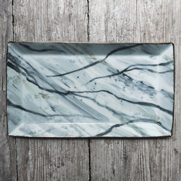 Carrara Marble Rectangular Plate #2