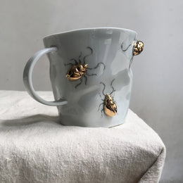 Golden Beetle Crumpled Mug
