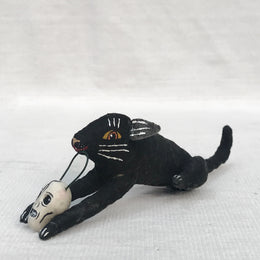 Black Cat with Skull