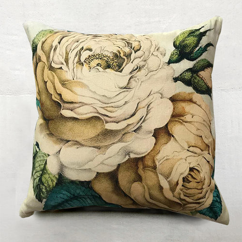 Sepia Rose Pillow