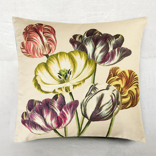 Variegated Tulips Pillow